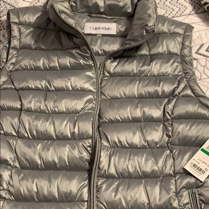 Gray Calvin Klein puffer vest